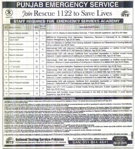 Join Rescue 1122 To Save Lives - New Rescue 1122 Jobs By NTS
