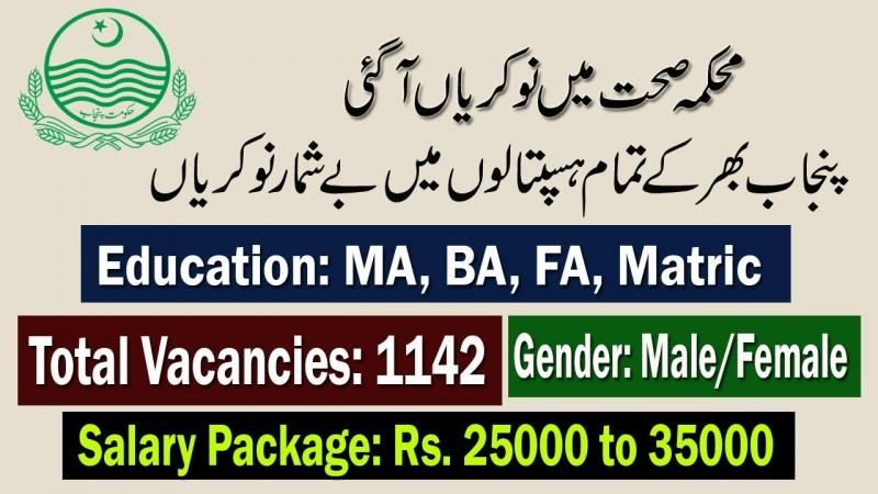 Career Opportunities At District Health Authorities 2019 - Nts.org.pk