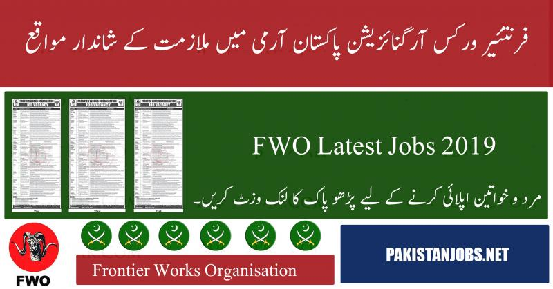 Jobs In Frontier Works Organization July 2019