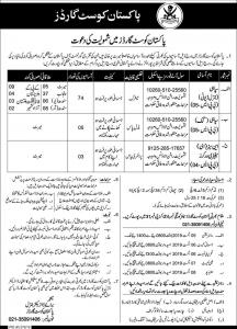 Jobs In Pakistan Coast Guard New Advertisement