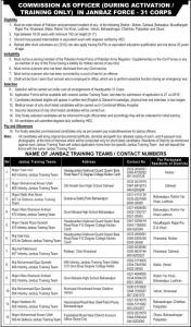 Pakistan Army Jobs in Janbaz Force 2019