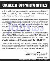 Careers  | Summit Bank Jobs 2019