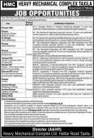 HMC Jobs 2019 - Jobs In Heavy Mechanical Complex Taxila