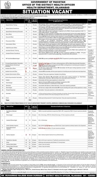 200+ Jobs At Expended Programme On Immunization In Pakistan