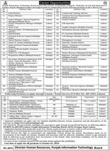 50+ New Jobs In Punjab Information Technology Board PITB Jobs September 2019