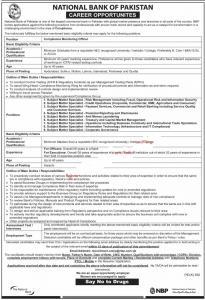 NBP Jobs 2019 - Jobs In National Bank Of Pakistan September 2019