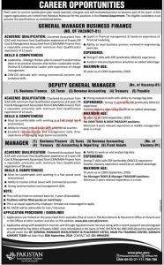 PIA Jobs 2019 Pakistan International Airlines Corporation
