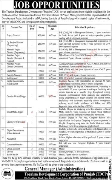 Tourism Development Corporation Jobs October 2019