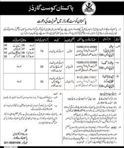 80 + Jobs In Pakistan Coast Guard October 2019 - Apply Now