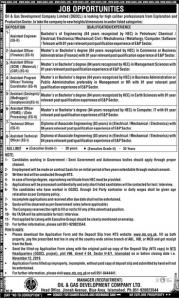 Jobs in Oil And Gas Development Company OGDCL by NTS