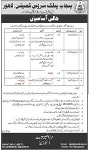 PPSC Jobs October 2019 - Punjab Public Service Commission Jobs