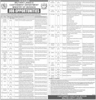 Military Land and Cantonment Department Jobs November Latest 2019
