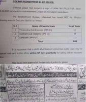 800+ Upcoming NTS Jobs In Islamabad Police ICT 2020 For constables & Sub Inspectors