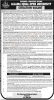 AIOU Academic Positions Jobs 2020 - Online Apply - Application Form