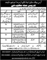 Jobs At army Public School And College Nowshehra Cantt