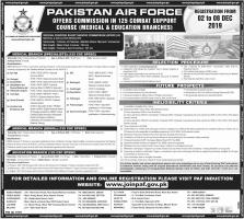 Jobs At PAF Medical And Educational Branches - Pakistan Air force Jobs 2019