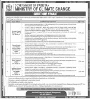 Latest Ministry Of Climate Change Govt of Pakistan Jobs