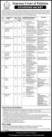 Latest NTS Jobs In Supreme Court of Pakistan - Application Form