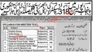 300+ Upcoming Punjab Police Jobs 2020 Of Inspector Legal