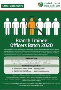 Dubai Islamic Bank Jobs Branch Trainee Officers Batch 2020