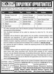 National Logistics Cell NLC Jobs January 2020