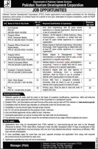 Pakistan Tourism Development Corporation (PTDC) Jobs January 2020