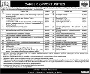 PITB Jobs 2020 Punjab Information Technology Board Apply Online Latest