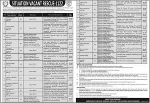 Rescue 1122 Jobs 2020 KPK - PTS Application Form - Apply Online