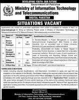 Ministry Of I.T & Telecom Digital Pakistan Jobs 2020