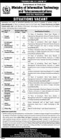 MOIT Jobs 2020 - Ministry of Information Technology & Telecommunication Jobs