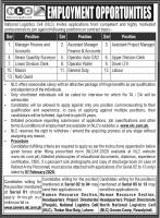 National Logistics Cell NLC Jobs January 2020