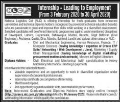 NLC Internships 2020 For Fresh Graduates - careers.nlc.com.pk