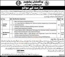Pakistan Railways Jobs 2020 For Matric Pass Skilled Workers