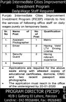 Punjab Intermediate Cities Improvement Investment Program PICIIP Jobs 2020