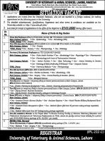 UVAS Jobs 2020 In Newspaper Advertisement & Challan Form