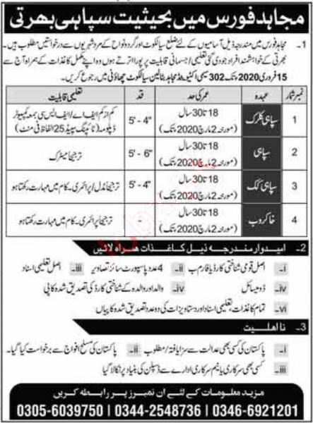 Join Mujahid Force As A Soldier February 2020 Jobs
