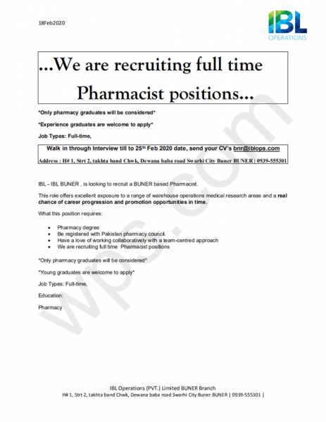 Required Pharmacist