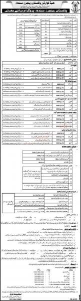 Pakistan Rangers Jobs 2020 (Sindh) All Pakistan Recruitment Plan