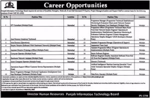 Punjab Information Technology Board PITB Jobs February 2020