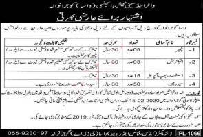 WASA Jobs 2020 Gujranwala - Water & Sanitation Agency Jobs
