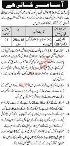 Pak Army School Jobs, Sialkot Cantt 2020