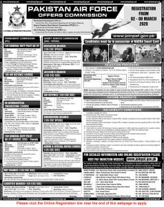 Pakistan Air Force Jobs 2020 - Join PAF www.paf.gov.pk Jobs 2020