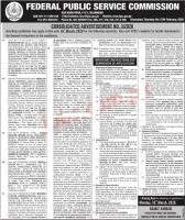 Federal Public Service Commission (FPSC) Jobs, Advertisement No.03/2020
