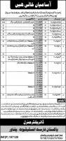 Pakistan Forest Institute (PFI) Peshawar Jobs 2020