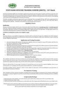 State Bank Officers Training Scheme (SBOTS) 2020 OG-2 Application Form & Test Sample Paper