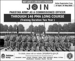 Join Pak Army Jobs 2020 PMA 146 Long Course Apply Online