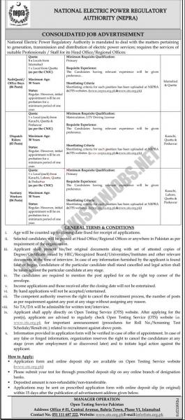 NEPRA Jobs May 2020 By OTS National Electric Power Regulatory Authority