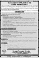 Lahore Electric Supply company LESCO Jobs 2020 May