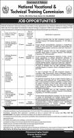 National Vocational & Technical Training Commission NAVTTC Jobs  2020