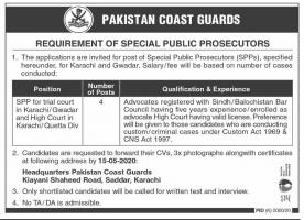 Pakistan Coast Guards Jobs May 2020